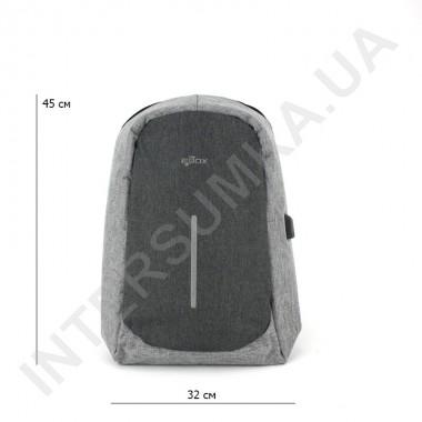 Заказать городской рюкзак-антивор EBOX 67115_grey с отделом под ноутбук+usb в Intersumka.ua