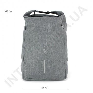 Заказать городской рюкзак-антивор EBOX 96215_grey с usb выходом в Intersumka.ua