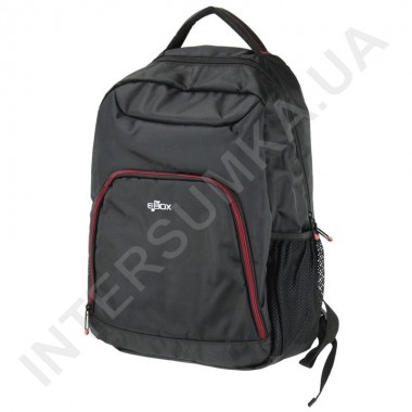 Заказать городской рюкзак EBOX 24315-1 чёрный с отделом под ноутбук в Intersumka.ua
