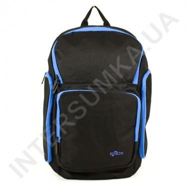 Заказать городской рюкзак EBOX 61915_blue чёрный с боковыми карманами в Intersumka.ua