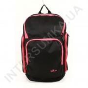 Купить городской рюкзак EBOX 61915_raspb чёрный с боковыми карманами