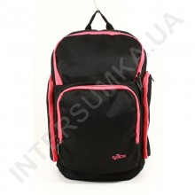 городской рюкзак EBOX 61915_raspb чёрный с боковыми карманами