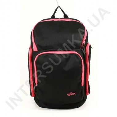 Заказать городской рюкзак EBOX 61915_raspb чёрный с боковыми карманами в Intersumka.ua