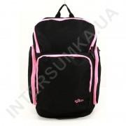 городской рюкзак EBOX 61915_rose чёрный с боковыми карманами
