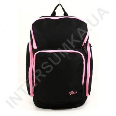 Заказать городской рюкзак EBOX 61915_rose чёрный с боковыми карманами в Intersumka.ua
