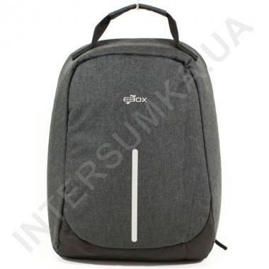 Заказать городской рюкзак-антивор EBOX 65615_grey с отделом под ноутбук в Intersumka.ua