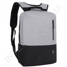 Городской рюкзак EBOX 69115 серый с отделом под ноутбук
