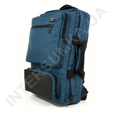 Заказать Сумка - рюкзак EBOX 70715_black_blue с отделом под ноутбук в Intersumka.ua
