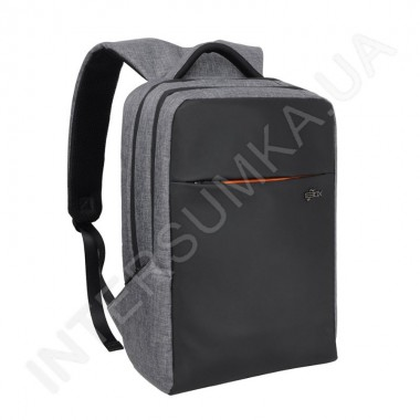 Заказать городской рюкзак EBOX 71015 black_grey 2 отдела + отдел под ноутбук+usb в Intersumka.ua