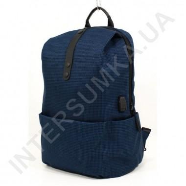 Заказать легкий городской рюкзак WALLABY 1782 dark_blue 1 отдел+usb в Intersumka.ua