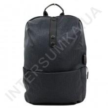 легкий міський рюкзак WALLABY 1782 dark_grey 1 відділ + usb