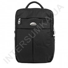 міський рюкзак WALLABY 7241 чорний на 2 відділа + відділ під ноутбук + розширювач