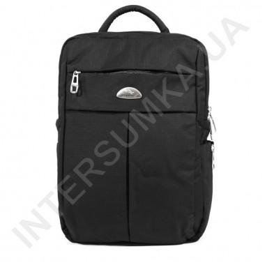 Заказать городской рюкзак WALLABY 7241 черный 2 отдела + отдел под ноутбук+расширитель в Intersumka.ua