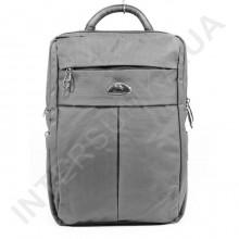 міський рюкзак WALLABY 7241 сірий на 2 відділа + відділ під ноутбук + розширювач