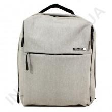 міський рюкзак WALLABY 9291 grey 2 відділа + відділ під ноутбук + usbа
