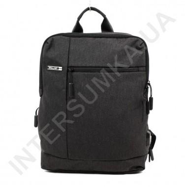 Заказать городской рюкзак WALLABY 9304 black 2 отдела + отдел под ноутбук+usb в Intersumka.ua