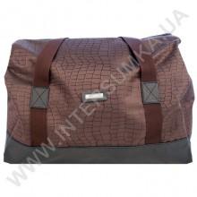 сумка-саквояж Wallaby 44751 коричневый с фактурой ткани под рептилию