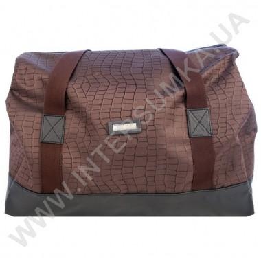 Заказать сумка-саквояж Wallaby 44751 коричневый с фактурой ткани под рептилию в Intersumka.ua