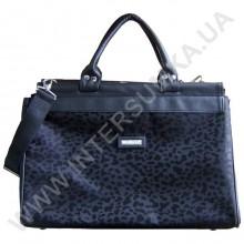 сумка-саквояж малая Wallaby 4975 черный леопард