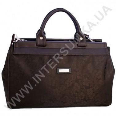 Заказать сумка-саквояж малая Wallaby 4975 тёмно-коричневый цветочек