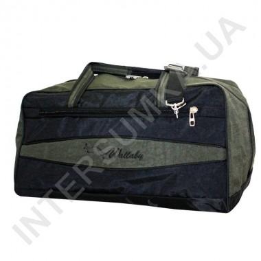 Заказать сумка дорожная Wallaby 317 черная со вставками цвета хаки в Intersumka.ua