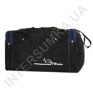 Заказать сумка спортивная Wallaby 437 черная с темно-синими вставками