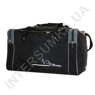 Заказать сумка спортивная Wallaby 437 черная с серыми вставками