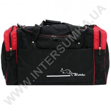 Заказать сумка спортивная Wallaby 437 черная с красными вставками