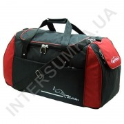 сумка спортивная Wallaby 447 черная с красными вставками