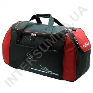 Заказать сумка спортивная Wallaby 447 черная с красными вставками