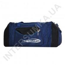 сумка спортивная с расширением Wallaby 475 синяя с черными вставками