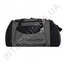 сумка спортивная с расширением Wallaby 475 хаки с черными вставками