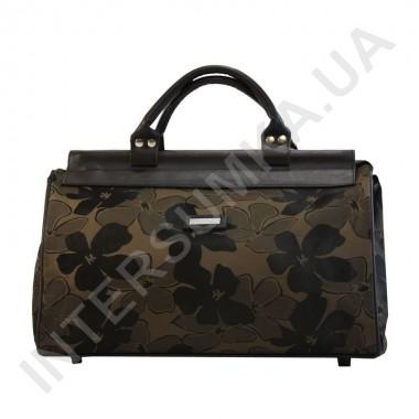 Купить сумка-саквояж малая Wallaby 4975 тёмно-коричневый цветок