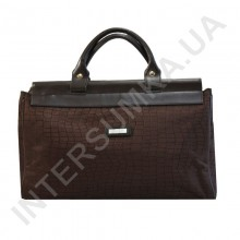 сумка-саквояж малая Wallaby 4975 тёмно-коричневый рисунок под рептилию