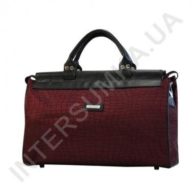 Заказать сумка-саквояж малая Wallaby 4975 бордовый рисунок под рептилию в Intersumka.ua