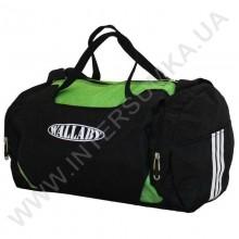сумка спортивная круглая Wallaby 216 черно-салатная