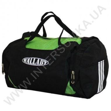Заказать сумка спортивная круглая Wallaby 216 черно-салатная