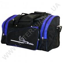 сумка спортивная Wallaby 271 чёрно-электрик в форме хлебницы