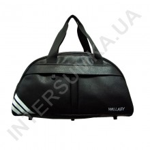 сумка дорожно-спортивная Wallaby 313 черная, накатка три полосы