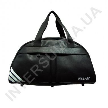 Заказать сумка дорожно-спортивная Wallaby 313 черная, накатка три полосы