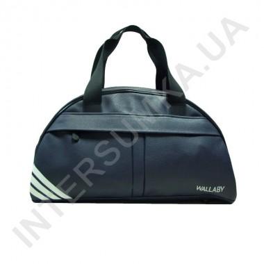 Замовити сумка дорожньо-спортивна Wallaby 313 синя, накатка три смуги в Intersumka.ua
