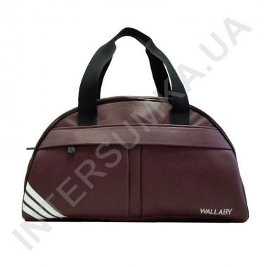 Заказать сумка дорожно-спортивная Wallaby 313 бордовая, накатка три полосы в Intersumka.ua