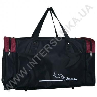 Заказать сумка спортивная Wallaby 340 черно-бордовая в Intersumka.ua