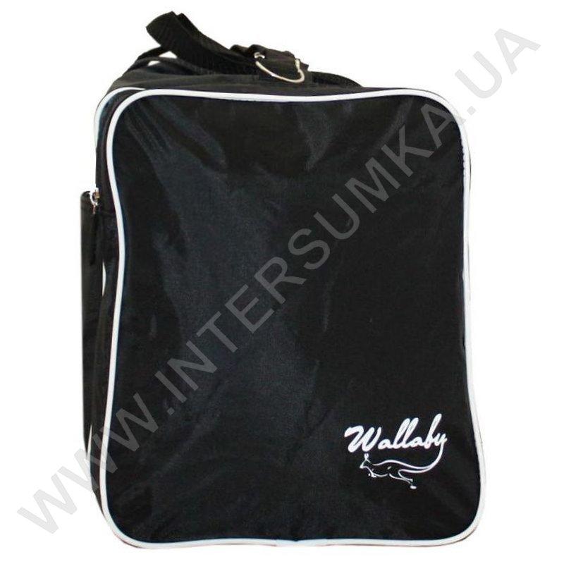 824a31fdb068 Спортивная сумка Wallaby 340 черная с белой отделкой, спортивные ...