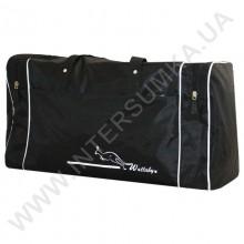 сумка спортивная Wallaby 340 черная с белой отделкой