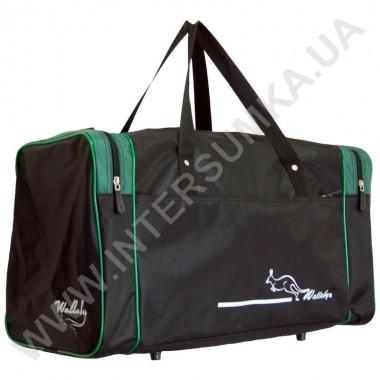 Заказать сумка спортивная Wallaby 340 черно-зеленая в Intersumka.ua