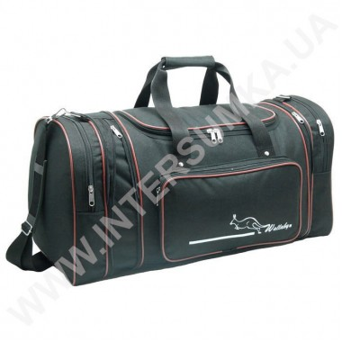 Заказать сумка спортивная с расширением Wallaby 365 черная с красной отделкой