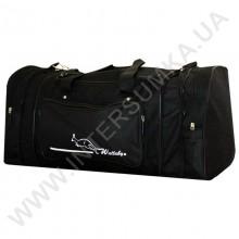 сумка спортивная с расширением Wallaby 365 черная с черной отделкой