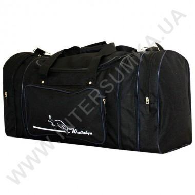 Заказать сумка спортивная с расширением Wallaby 365 черная с синей отделкой