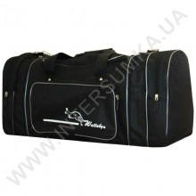 сумка спортивная с расширением Wallaby 365 черная со стальной отделкой